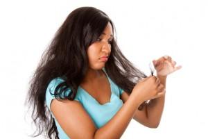 Split hair tips